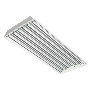 Philips Day-Brite FBD454HO-UNV-1/4-EB-2LS 4-Light Suspended Mount FBD Series Fluorescent High Bay Fixture; 54 Watt, White Polyester Powder-Coated