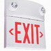 Hubbell Lighting / Dual-Lite LTURW LT Series Designer Combination Emergency Lighting Unit/LED Exit Sign; 120/277 Volt AC Input/6 Volt DC Output, 10 Watt, White, Red Letter