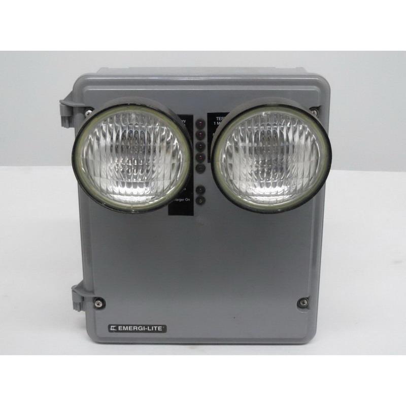 Emergi-Lite 12KSE54-2-FAD-120/277 Double Head KS Steel Series Advanced Diagnostic Emergency Light Fixture; 120/277 Volt AC, 54 Watt At 1-1/2 Hour