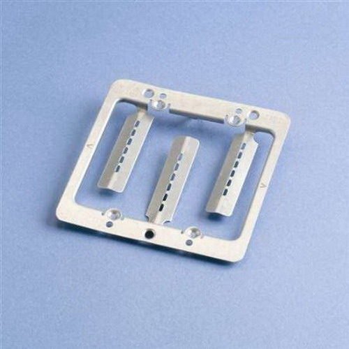 Erico MPLS2 Low Voltage Mounting Plate with Screws; 2-Gang, 4-1/4 Inch Width x 4-1/4 Inch Height, Wall Mount, Steel