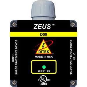 Ditek D50-120/2401 Surge Protective Device; 120/240 Volt AC