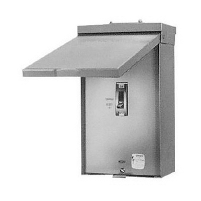 GE Distribution TQD200NRE Enclosure; 200 Amp, 240 - 600 Volt AC/125 - 250 Volt DC, 2-Pole, Surface Mount