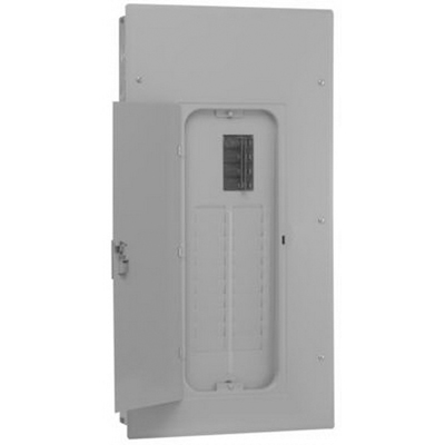 GE Distribution TSL412CSCU PowerMark Gold™ 3-Wire Meter Socket Load Center With Door; 120/240 Volt, 125 Amp, 1 Inch: 4, 1/2 Inch: 24, 20, 6, 12, 16 Space, 4 Circuit, 1 Phase