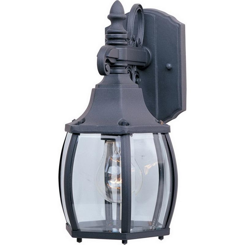Maxim 1031BK Crown Hill Collection 1-Light Wall Lantern; 60 Watt, 672 Lumens, Black