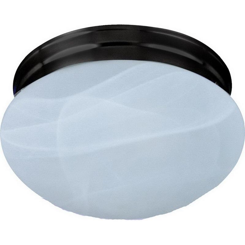 Maxim 5884MROI Essentials Collection 1-Light Flush Standard Dimmable Incandescent Light Fixture; 60 Watt, 672 Lumens, Oil Rubbed Bronze, Lamp Not Included