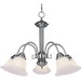 Maxim 2698MRSN Malaga Collection Ceiling Downlight 5-Light Incandescent Chandelier; 100 Watt, 5750 Lumens, Satin Nickel