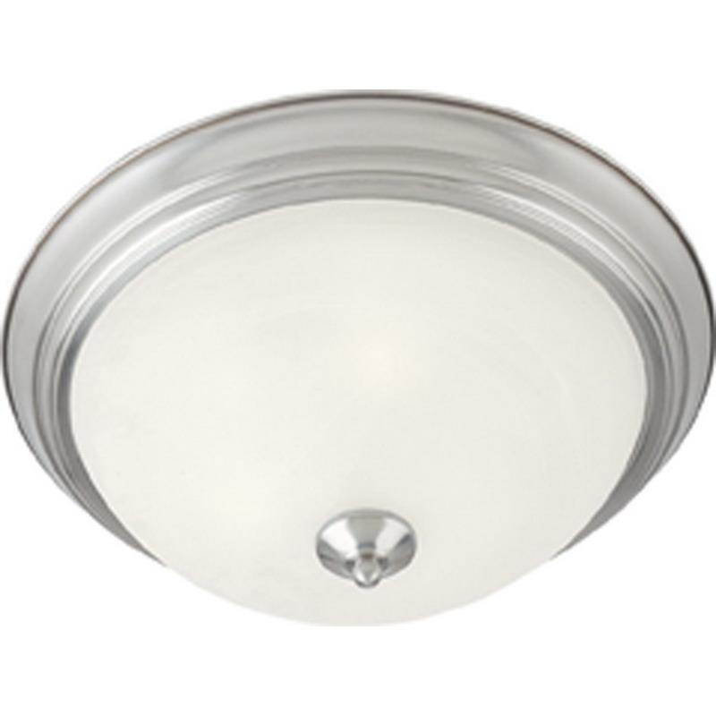 Maxim 5840MRSN Essentials- 584x Collection 1-Light Ceiling Flush Standard Dimmable Incandescent Light Fixture; 60 Watt, 672 Lumens, Satin Nickel, Lamp Not Included