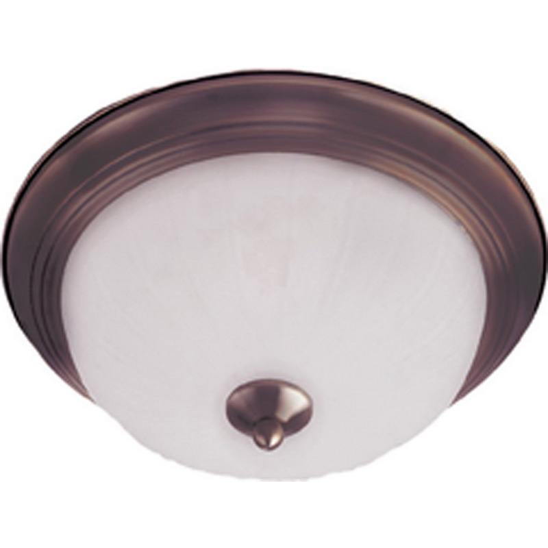 Maxim 5832FTOI Essentials- 583x Collection 3-Light Ceiling Flush Standard Dimmable Incandescent Light Fixture; 60 Watt, 2016 Lumens, Oil Rubbed Bronze, Lamp Not Included