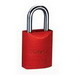Ideal 44-922 Safety Padlock; Aluminum Body, Red