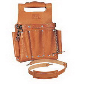 Ideal 35-950 Tuff-Tote™ Tool Pouch With Shoulder Strap; 2-1/4 Inch Depth, 15 Pocket, Premium Leather