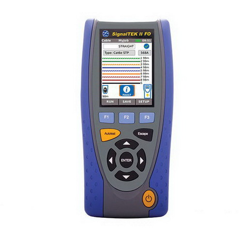 """""""""""Ideal R156001 SIGNALTEK II FO Cable and Network Transmission Tester Supports Voice, Video, Data and CCTV,"""""""""""" 23901"""