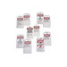 Ideal 44-833 Heavy-Duty Lockout Tag; Laminated Plastic, Red Striped Background Black, White