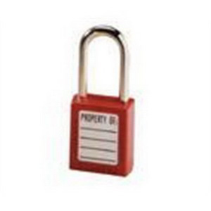 Ideal 44-916 Keyed-Alike Safety Lockout Padlock; Xenoy Body, Steel Shackle, Red