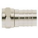 Ideal 85-017 RG-6 Crimp-On F-Type Connector; Brass, Nickel-Plated, Card of 4