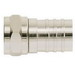 Ideal 85-037 RG-6 Crimp-On F-Type Connector; Brass, Nickel-Plated, Card of 10