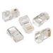 Ideal 85-346 Category 5e RJ45 Telcom Modular Plug; 8P8C, Clear