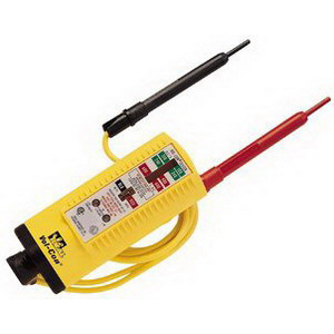 Ideal 61-076 Vol-Con Voltage Tester/Continuity Tester 5 - 600 Volt AC, Mechanical With Lights Display,""