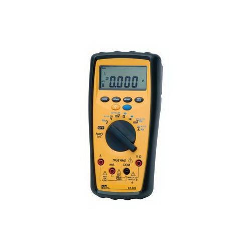 "Ideal 61-484 480 Series Commercial-Grade Multimeter 6/60/600/1000 Volt AC, 6/60/600/1000 Volt AC, 60/600 Milli-Amp AC, 6/10 Amp AC, 60 Milli-Amp DC, 600/6/10 Amp DC, 600.0 Ohm/6.000 kilo-ohm/60.00 kilo-ohm/600.0 kilo-ohm/6.000 mega-ohm/40.00 mega-ohm,"""