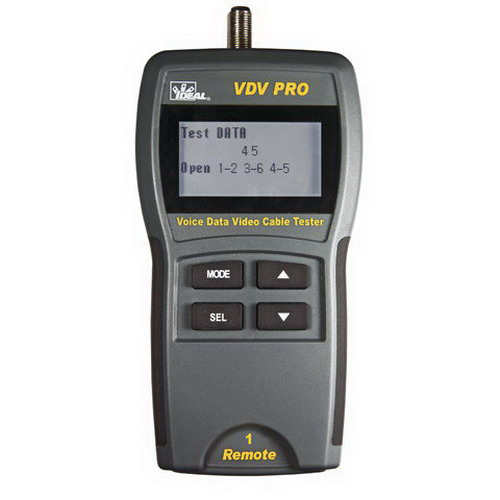 Ideal 33-771 VDV Pro Cable Tester Supports RJ-11/12, RJ-45, Coax F, BNC and RCA Connectors,""