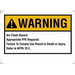 Ideal 44-892 Self-Sticking Rectangular Arc Flash Warning Label; Polyester, Black Legend, Yellow/White Background, 5/PK