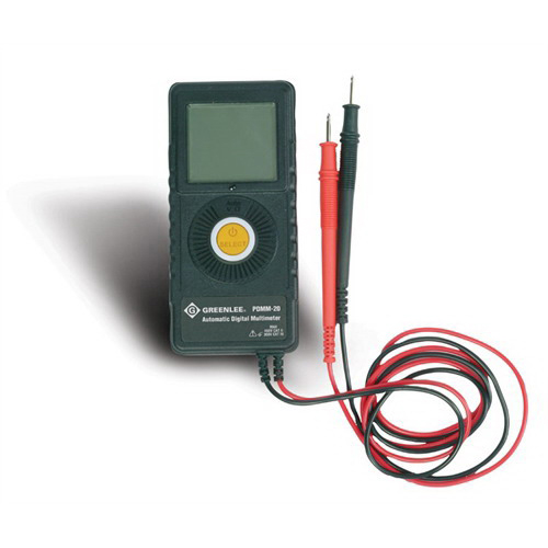 Greenlee PDMM-20 Pocket Multimeter; 450 Volt (CAT II), 300 Volt (CAT III), 6/60/600 Kilo-Ohm, 6 mega-ohm