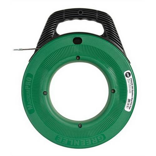 Greenlee FTSS438-200 MagnumPRO Fish Tape With Case; 200 ft Length, Steel
