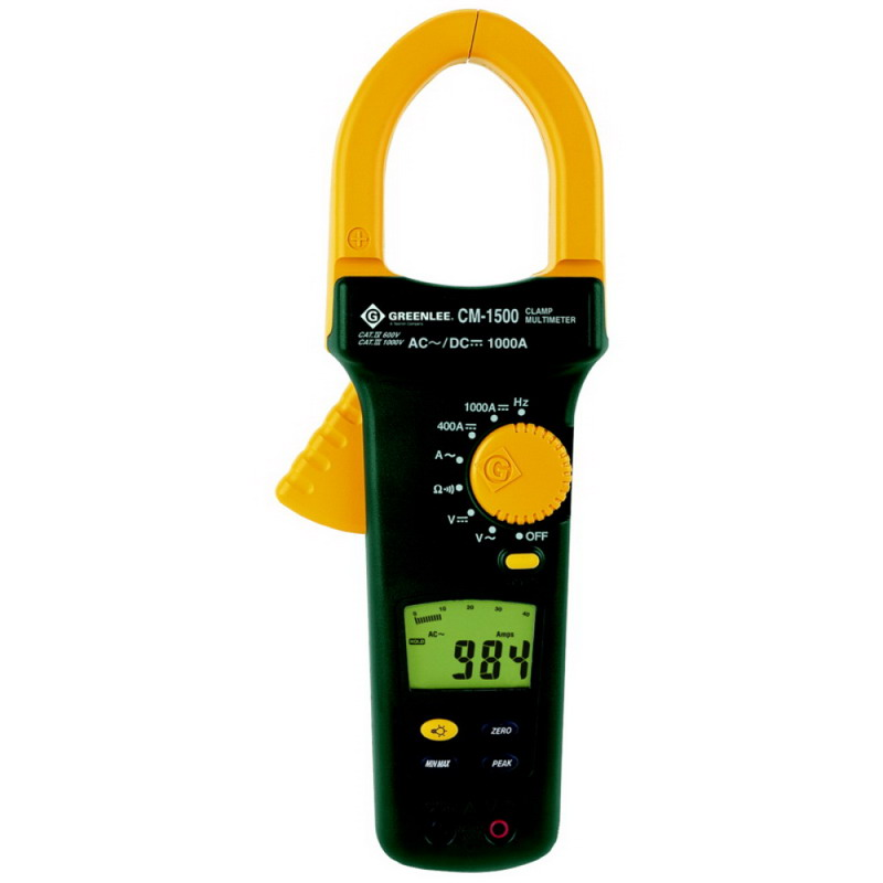 A Digital Clamp Meter 400 : Greenlee cm rms digital graphical analog ac dc clamp