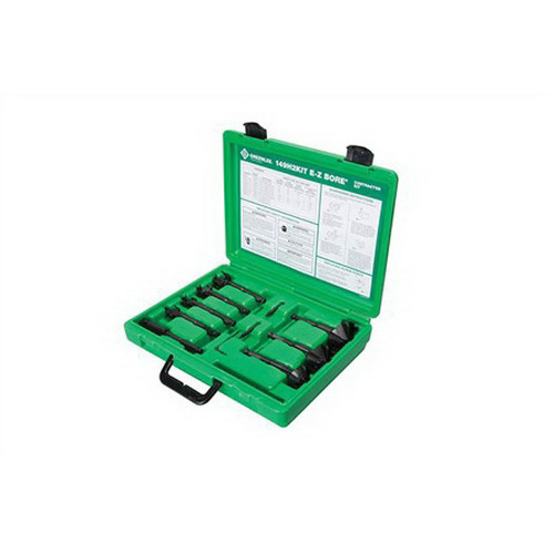 Greenlee 149H2KIT E-Z Bore® 7 Pieces Double-Blade Self-Feed Wood Boring Bit Kit; 7/16 Inch Hex Shank