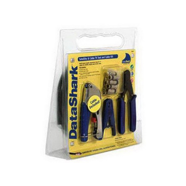 """""""""""Paladin PA70028 DataShark Satellite and Cable TV Home Entertainment Tool Kit 14-Pieces, F-Connector,"""""""""""" 76697"""