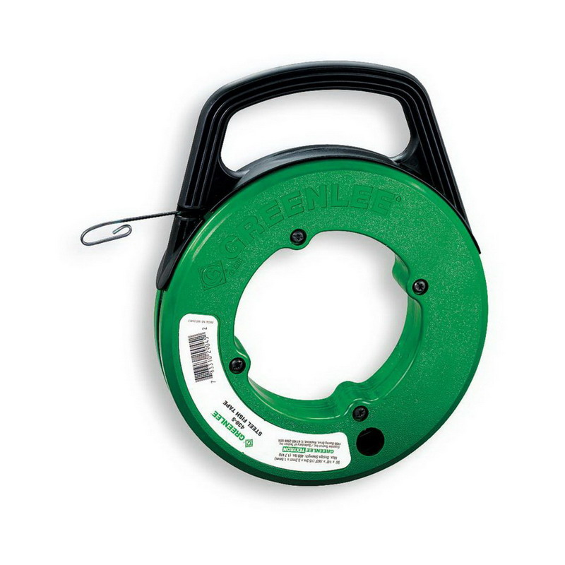 Greenlee 438 10 fish tape with winder case 125 ft length for Greenlee fish tape