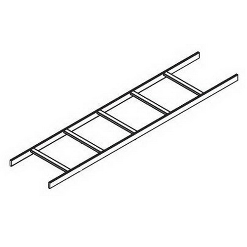 Hoffman LSS18G Straight Section Ladder Rack; 10 ft x 18 Inch, Steel, Gray