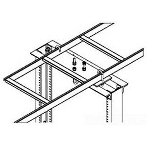 Hoffman Pentair LRRMPG18 Rack-To-Runway Mounting Plate Kit; 18 Inch Wide Ladder, Steel, Gray