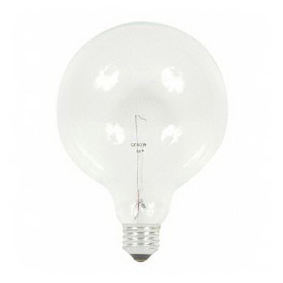 GE Lamps 40G40 Decorative Globe G40 Incandescent Lamp; 40 Watt, 120 Volt, Medium Screw (E26) Base, 2500 Hour Life, Clear