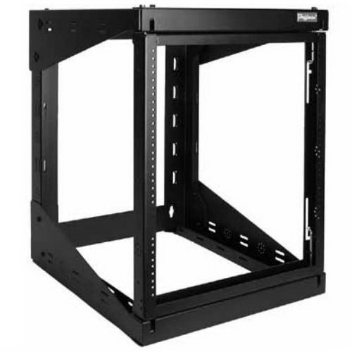 Hoffman E19SWM25U24 Versarack™ Swing Out Rack; Wall Mount, 25-Rack Unit, RAL 9005 Black Textured and Low Gloss Polyester Powder Paint