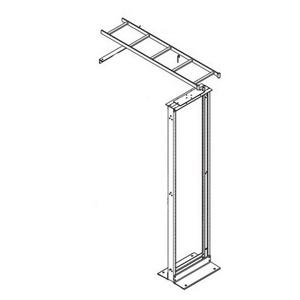 Hoffman E45RUBKIT Rack-To-Wall Ladder Rack Kit; Black