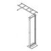 Hoffman E45RUBKIT Rack-To-Wall Ladder Rack Kit; Black