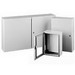 Hoffman CSD20168LG Concept™ Enclosure; Wall Mount, 18 Gauge Steel, RAL 7035 Light Gray