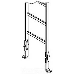 Hoffman LFKB Foot Kit; Ceiling/Wall Mount, Black