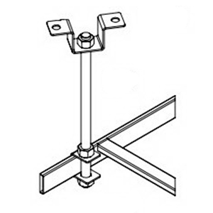 Hoffman LCBK Ceiling-Mount Ladder Rack Bracket Support Kit; Steel, Plated