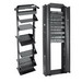 Hoffman EDR19FM45U 2-Post Lan Rack; Screw Mount, 45-Rack Unit, Black