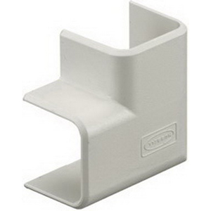 Hubbell Wiring PT1FE Flat Elbow Cover; 1.330 Inch Length x 1.330 Inch Width x 0.740 Inch Height, Off White, PVC