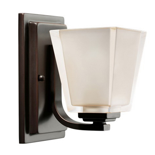 Kichler 5459OZ Urban Ice Collection Incandescent Wall Contemporary/Modern Linear Bath Vanity Light Fixture 100 Watt  Olde Bronze