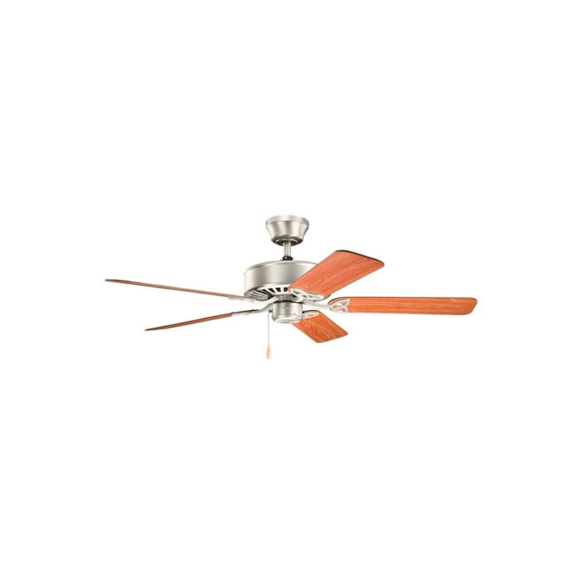 Kichler 330100NI Renew Collection Traditional Style Ceiling Fan; Walnut Wood