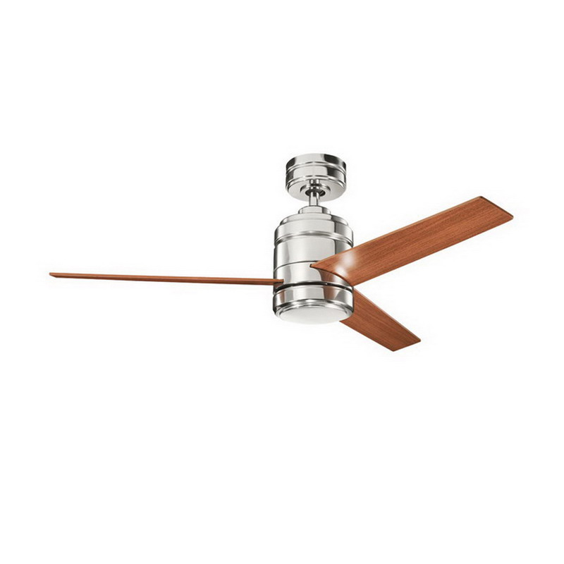 Kichler 300146PN Arkwright Collection Ceiling Fan Polished Nickel,""