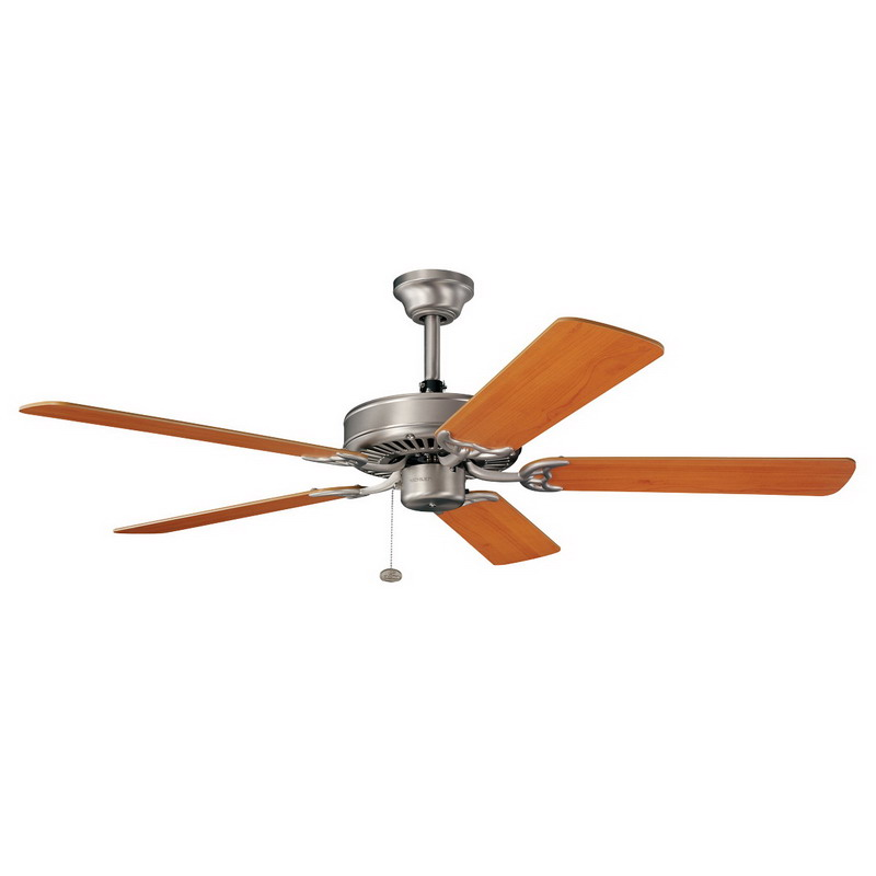 Kichler 339010NI Sterling Manor Collection Ceiling Fan; 52 Inch ...
