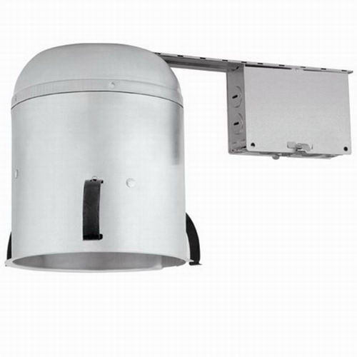 Lightolier CRR1NBQP 1-Light Ceiling Mount 6 Inch Remodel AirSeal Housing; Aluminum, Medium Base, Insulated/Non-Insulated