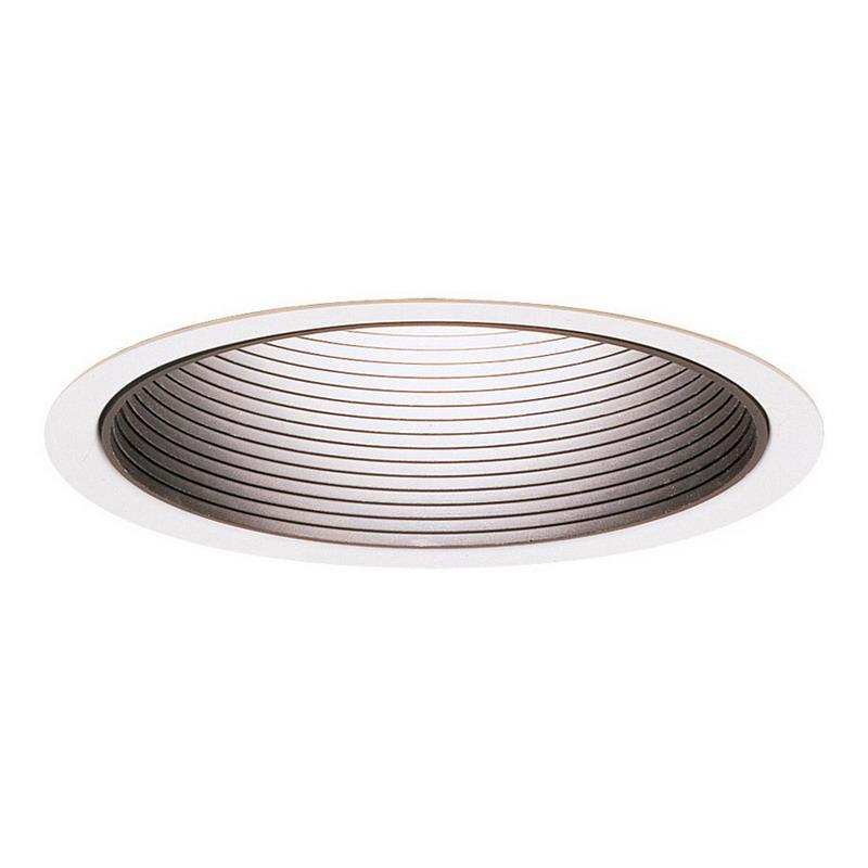 Lightolier B17WH B-Series 6-3/4 Inch Aperture Lytening Incandescent Reflector Trim; Spun Aluminum Reflector