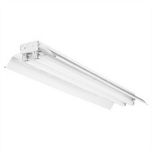 Lithonia Lighting / Acuity TL-2-32-MVOLT-1/4-GEB10IS 2-Light Low Bay Industrial Lamp; 64 Watt, High-Gloss Baked White Enamel