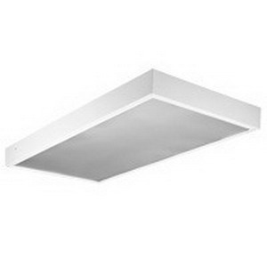 Lithonia Lighting / Acuity M 2 32 A12 MVOLT GEB10IS 2-Light T8 Fluorescent Lensed Troffer; 32 Watt, Painted High-Gloss Baked White Enamel, Lamps Not Included