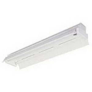 Lithonia Lighting / Acuity AF-2-32-MVOLT-GEB10IS 2-Light Surface/Suspended Mount Heavy-Duty Turret Industrial T8 Fluorescent Striplight Fixture; 64 Watt, High-Gloss Baked White, Lamp Not Included